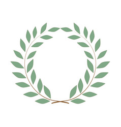 Laurel wreath olive reward on white background vector
