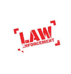 Law enforcement rubber stamp vector
