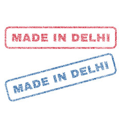 Made in delhi textile stamps vector