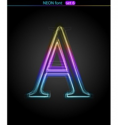 neon letter A vector image