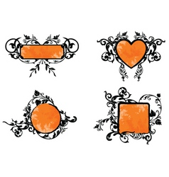 orange banner vector image vector image