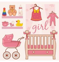 Room baby girl vector