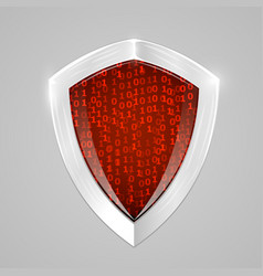 security digital shield concept web security or vector image vector image