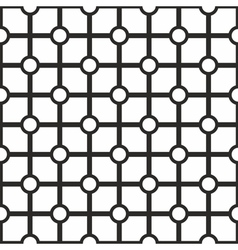 Tile black and white geometric pattern background vector