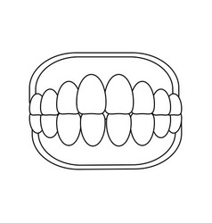 toothbox dental care vector image