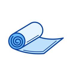 yoga mat line icon vector image