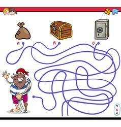 Path maze activity with pirate vector
