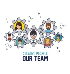 Creative people our team vector
