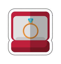 box ring wedding jewelry vector image