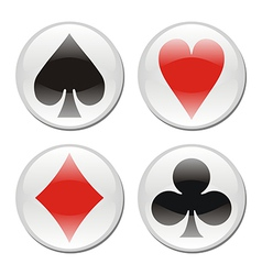 Poker card icons on white vector
