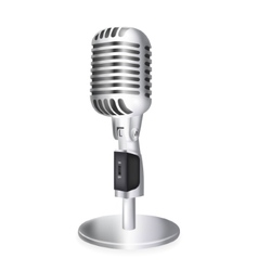 Single retro microphone vector