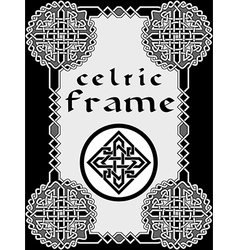 Frame in celtic vector