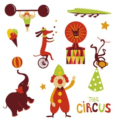 Circus artists cartoon characters vector