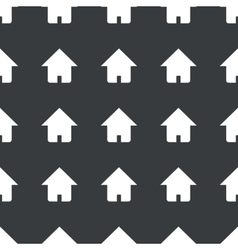 Straight black home pattern vector