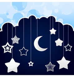 stars and moon mobile vector image