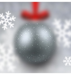 Defocused silver christmas ball vector