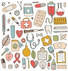 Health care and medicine elements set vector