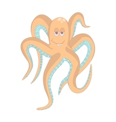 Very funny octopusisolated vector