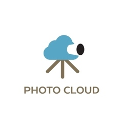 Photo cloud creative logo for cloud computing vector