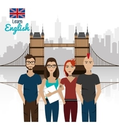 Learn english design vector