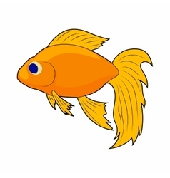 Goldfish icon in cartoon style vector