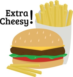 Extra cheesy vector
