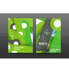 A4 flyer or annual report layout geometric shape vector