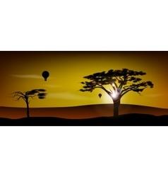 African desert Safari vector image