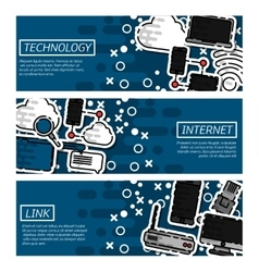 Banners about Internet and technology vector image vector image