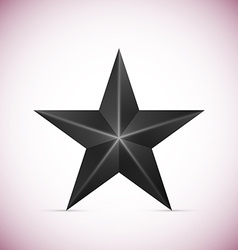 Black Star Isolated on white background vector image