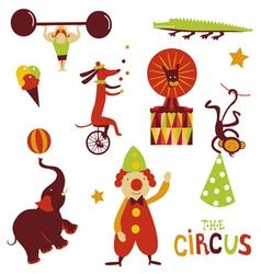 Circus artists cartoon characters vector