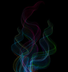 Colorful smoke clouds vector