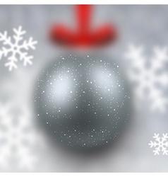 Defocused silver christmas ball vector