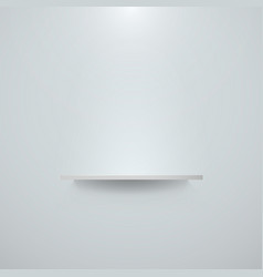 Empty white shelf hanging on a wall bright office vector