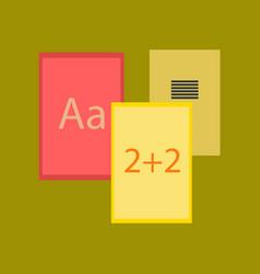 Flat icon on stylish background school notebooks vector