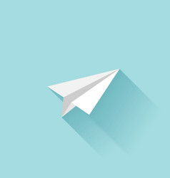 Flat paper plane icon vector image