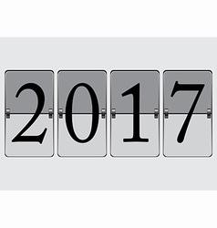 Flip board 2017 vector