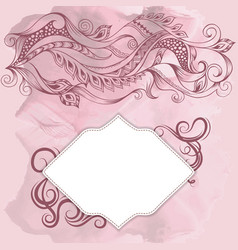 Frame and pattern on old background vector