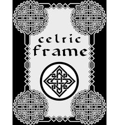 Frame in Celtic vector image vector image