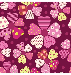 Heart flower pattern vector