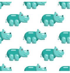 hippo seamless pattern vector image vector image