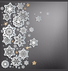 holiday snow decoration vector image