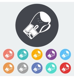 Icon flat boxing gloves vector