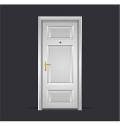 Interior apartment white door isolated on black vector image