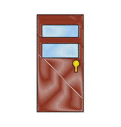 Isolated brown door icon vector