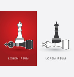 king and queen chess vector image vector image