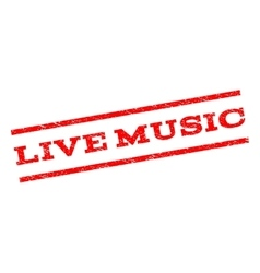 Live music watermark stamp vector