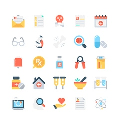 Medical colored icons 4 vector