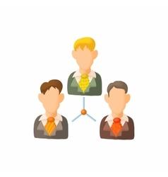 Men team icon cartoon style vector image