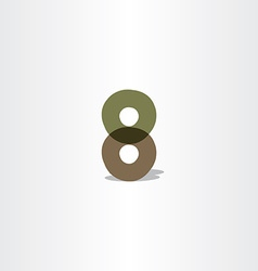 Number 8 logo icon 8 eight symbol vector